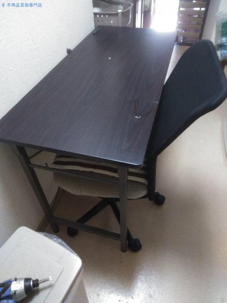 【徳島市南庄町】事務机と椅子の処分と回収・お客様の声