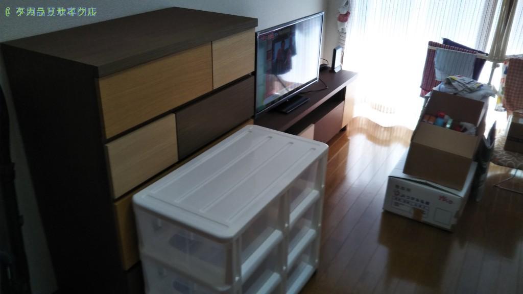 【徳島市沖浜東】チェスト・テレビ台・テレビの回収のご依頼者さま